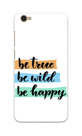 Be True Wild & Happy Motivational Quote Vivo Y55S Mobile Cover Case