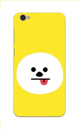 Tongue Out Smile Funny Face Vivo Y55S Mobile Cover Case