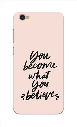 What You Believe Motivational Quote Vivo Y55S Mobile Cover Case