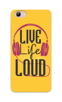 Live Life Loud headphone Quote Yellow Vivo Y71 Mobile Cover Case