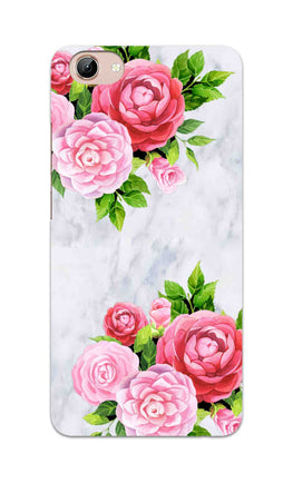 Pink Roses Floral Marble So Girly Vivo Y71 Mobile Cover Case