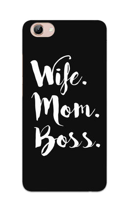 Wife Mom Boss Typography Vivo Y71 Mobile Cover Case