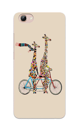 Giraffe Cycling Enjoy Life Funny For Animal Lovers Vivo Y71 Mobile Cover Case