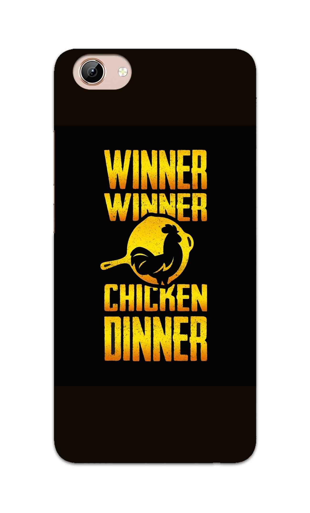 Chicken Dinner Pan For Winner Typography Vivo Y71 Mobile Cover Case - MADANYU