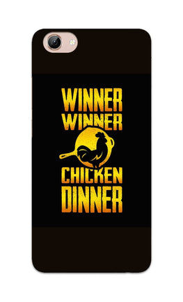 Chicken Dinner Pan For Winner Typography Vivo Y71 Mobile Cover Case