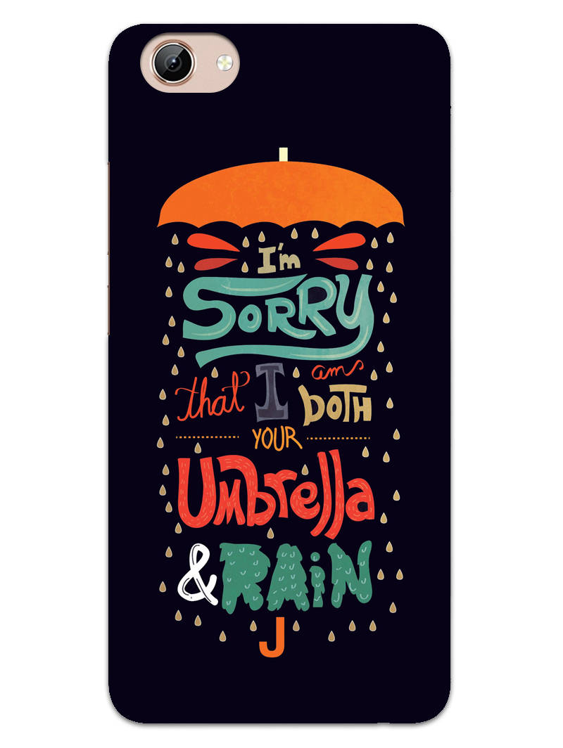 Umbrella And Rain Rainny Quote Vivo Y71 Mobile Cover Case - MADANYU