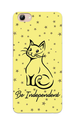 Be Independent Cat Motivational Quote Vivo Y71 Mobile Cover Case