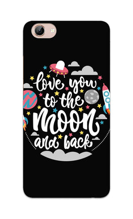 Love You Moon Space Surfing Lovers Vivo Y71 Mobile Cover Case