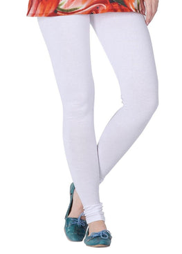 Premium Super Soft Stretchable Free Size White Leggings for Women
