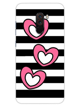 Three Hearts Xiaomi Poco F1 Mobile Cover Case