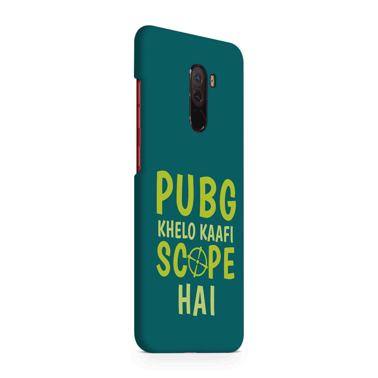 Pubg Khelo Kaafi Scope Hai Game Lovers Xiaomi Poco F1 Mobile Cover Case
