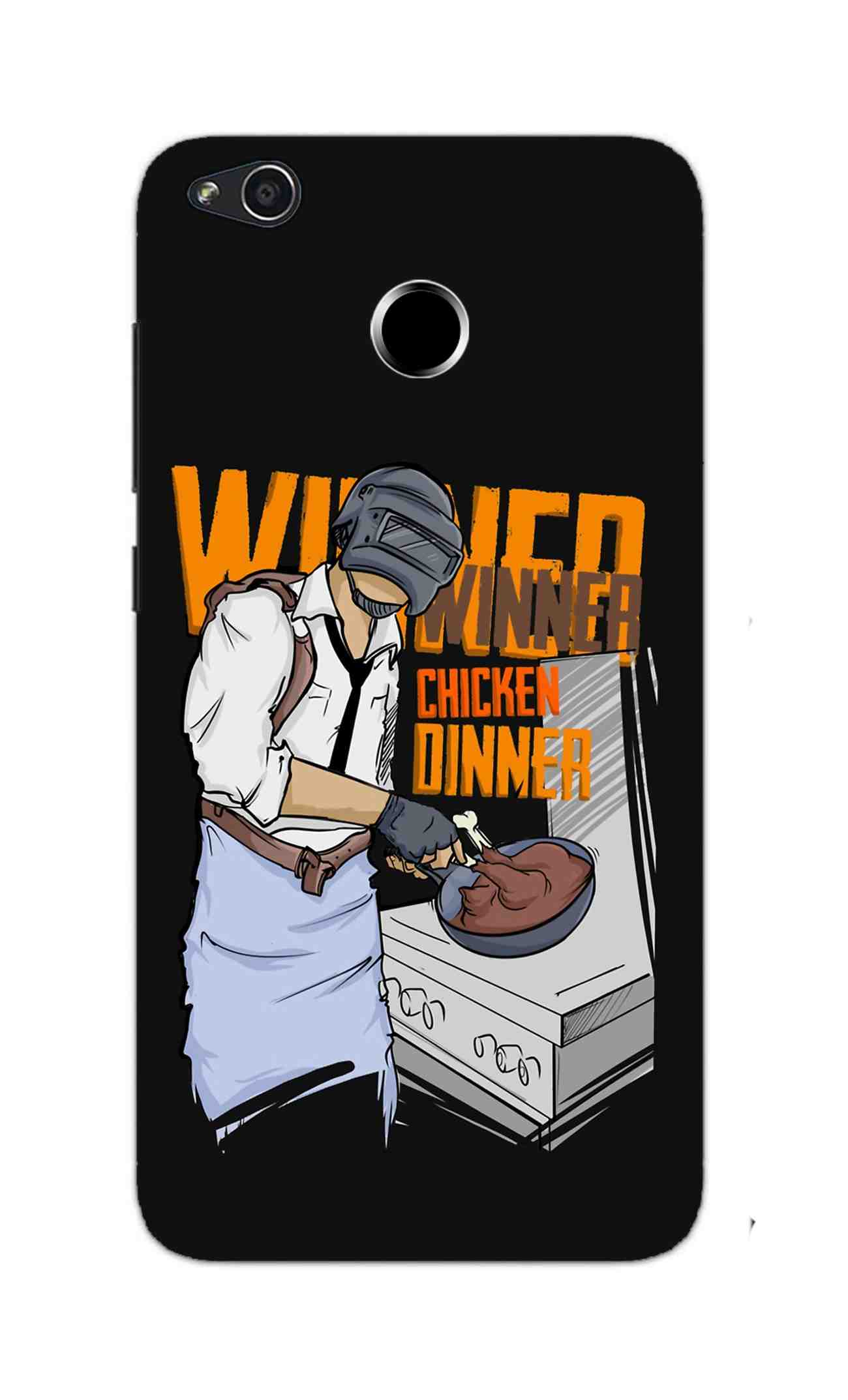 Man Making Chicken Dinner For Game Lovers RedMi 4 Mobile Cover Case - MADANYU
