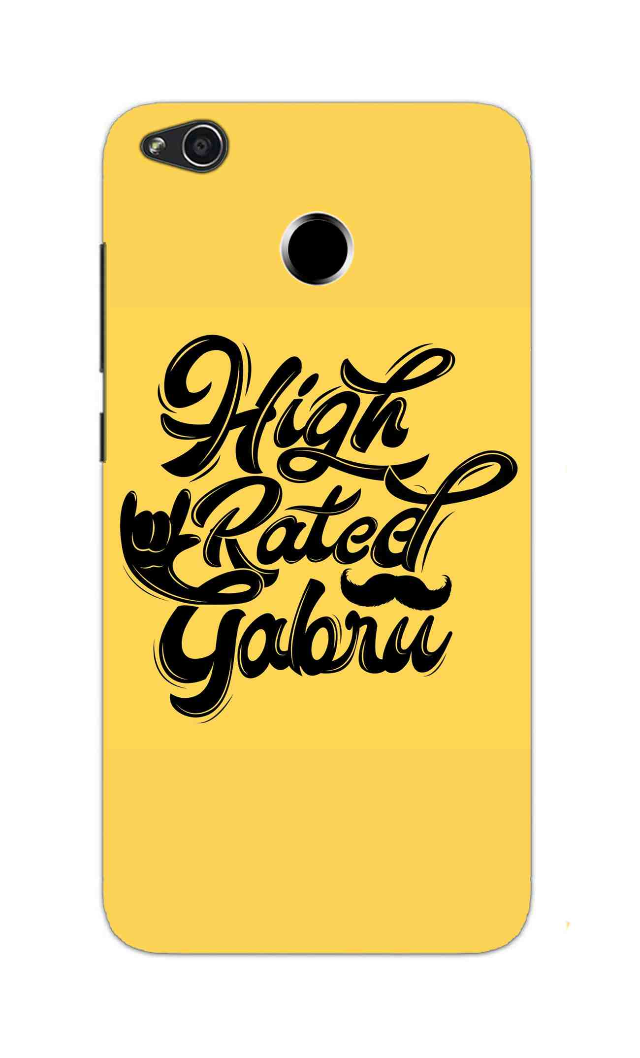 High Rated Gabru Song Typography RedMi 4 Mobile Cover Case - MADANYU