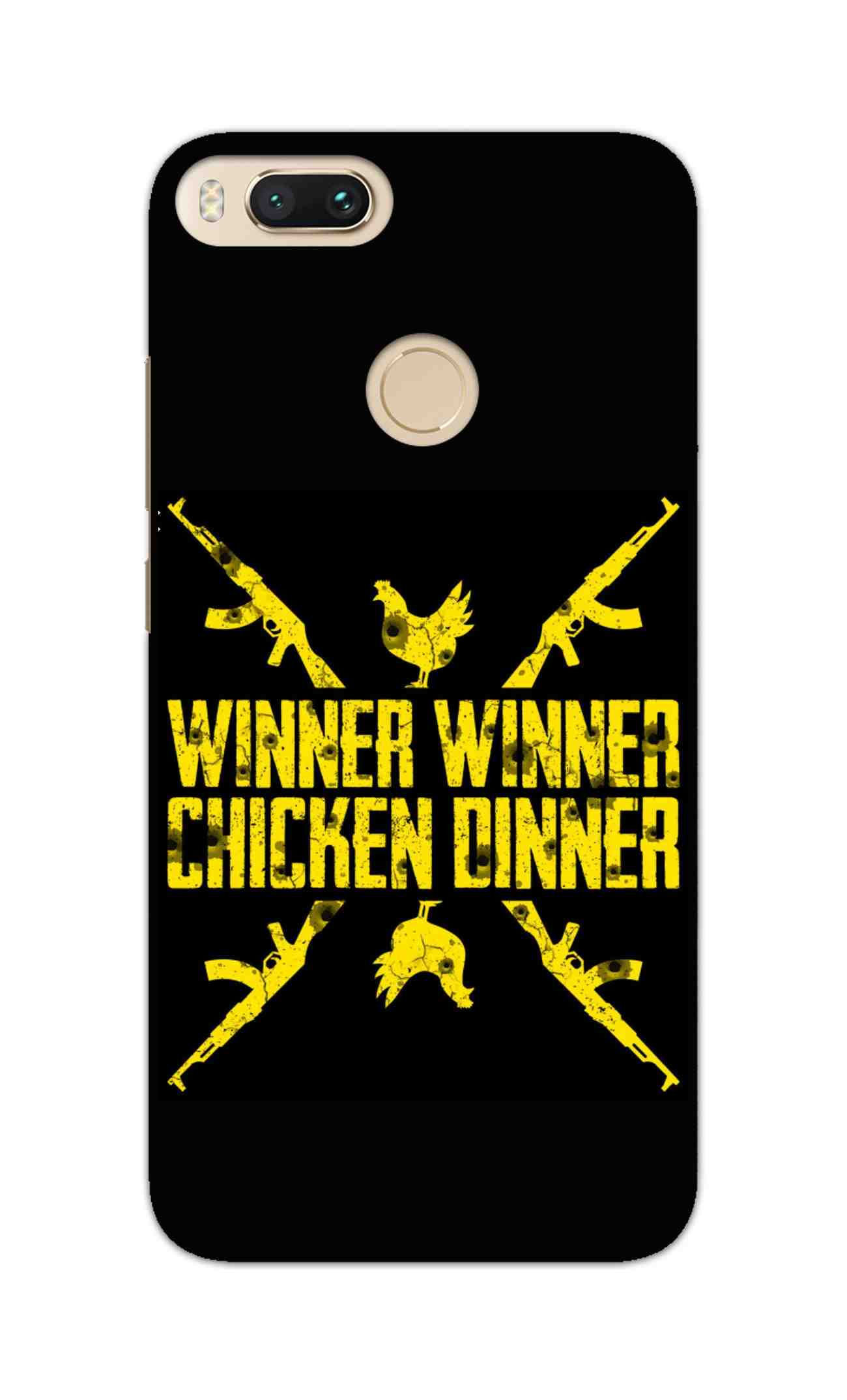 Gun And Chicken For Winner Typography Art RedMi A1 Mobile Cover Case - MADANYU