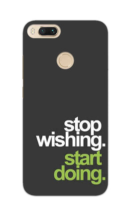 Stop Wishing Start Doing Motivational Quote RedMi A1 Mobile Cover Case