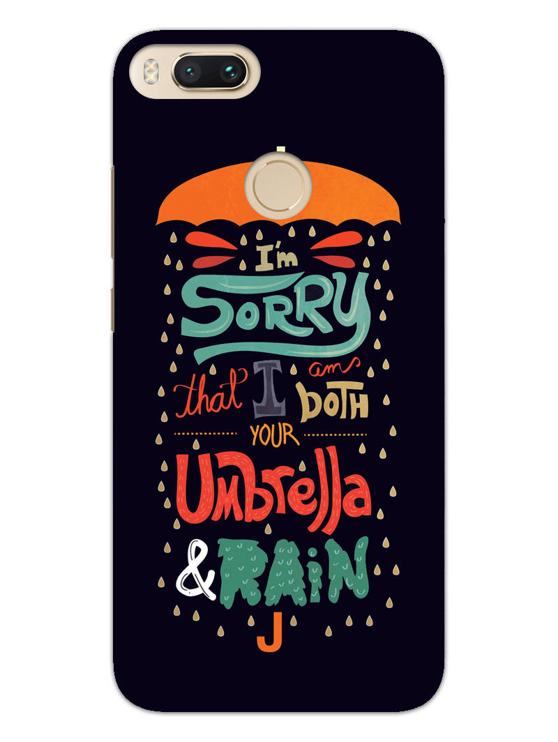 Umbrella And Rain Rainny Quote RedMi A1 Mobile Cover Case - MADANYU