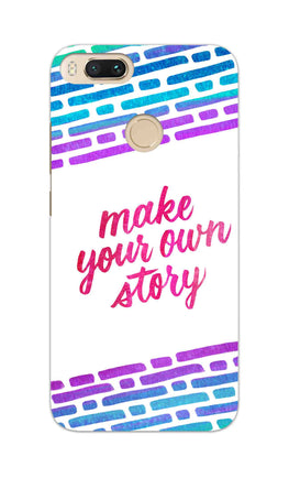 Make Your Own Story Motivational Quote RedMi A1 Mobile Cover Case