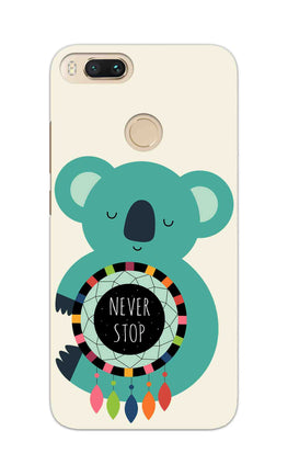 Never Stop Teddy So Girly RedMi A1 Mobile Cover Case
