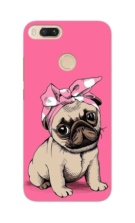 Princess Pug Dog Lovers So Girly RedMi A1 Mobile Cover Case