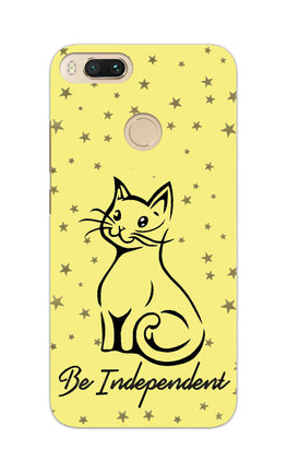 Be Independent Cat Motivational Quote RedMi A1 Mobile Cover Case