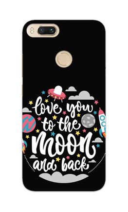 Love You Moon Space Surfing Lovers RedMi A1 Mobile Cover Case