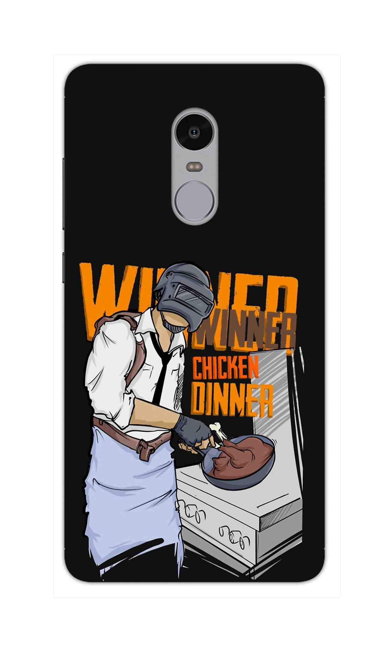 Man Making Chicken Dinner For Game Lovers RedMi Note 4 Mobile Cover Case - MADANYU
