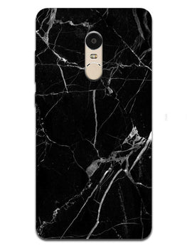 Black Marble Grey Veins RedMi Note 4 Mobile Cover Case
