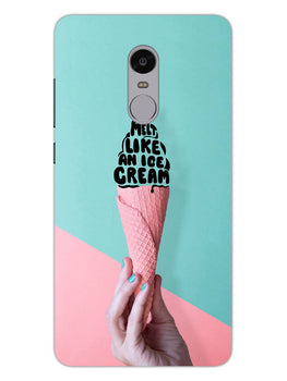 Melt Like An IceCream Lovers RedMi Note 4 Mobile Cover Case