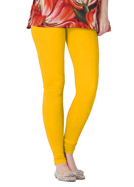 Premium Super Soft Stretchable Free Size Yellow Leggings for Women