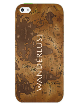 Wanderlust Traveller Globe Trotter iPhone 5S Mobile Cover Case