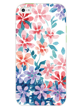 Floral Art iPhone 5S Mobile Cover Case