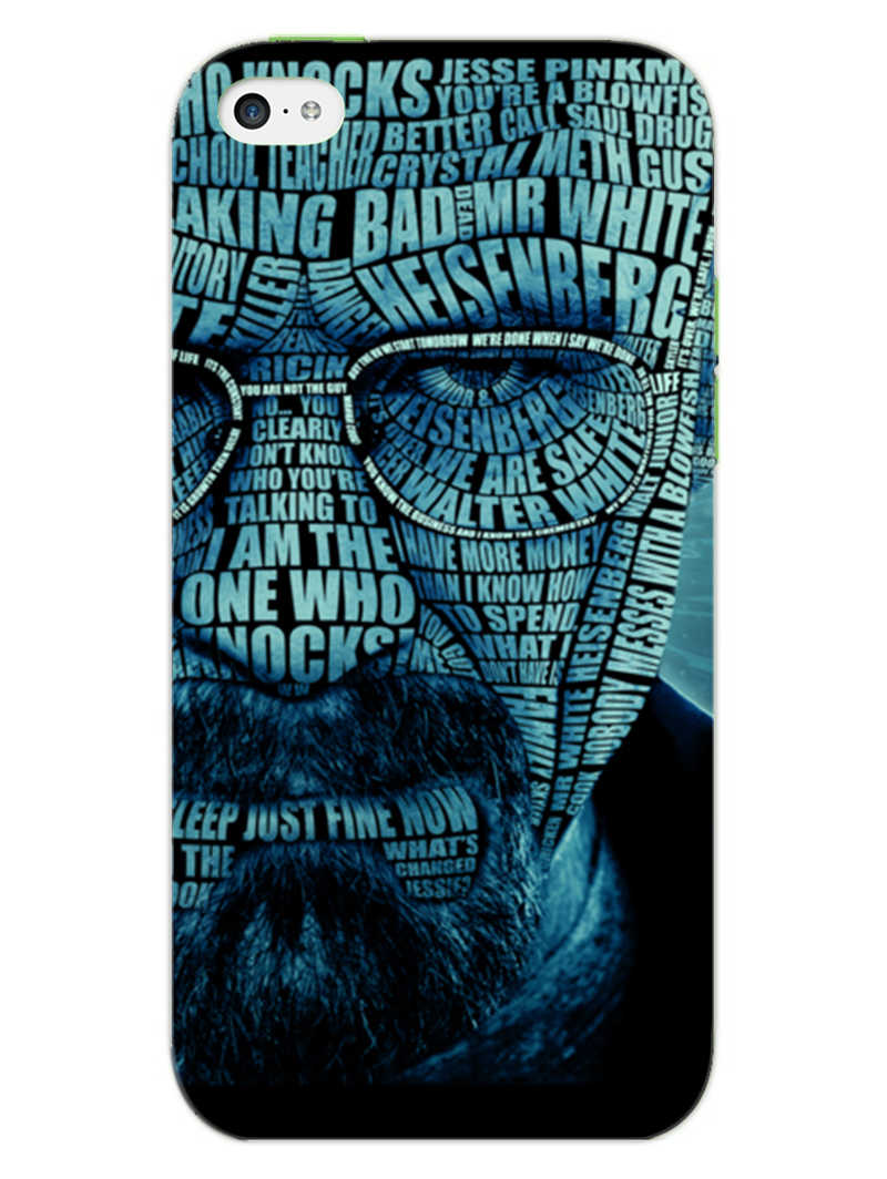 Heisenberg Typography iPhone 5S Mobile Cover Case