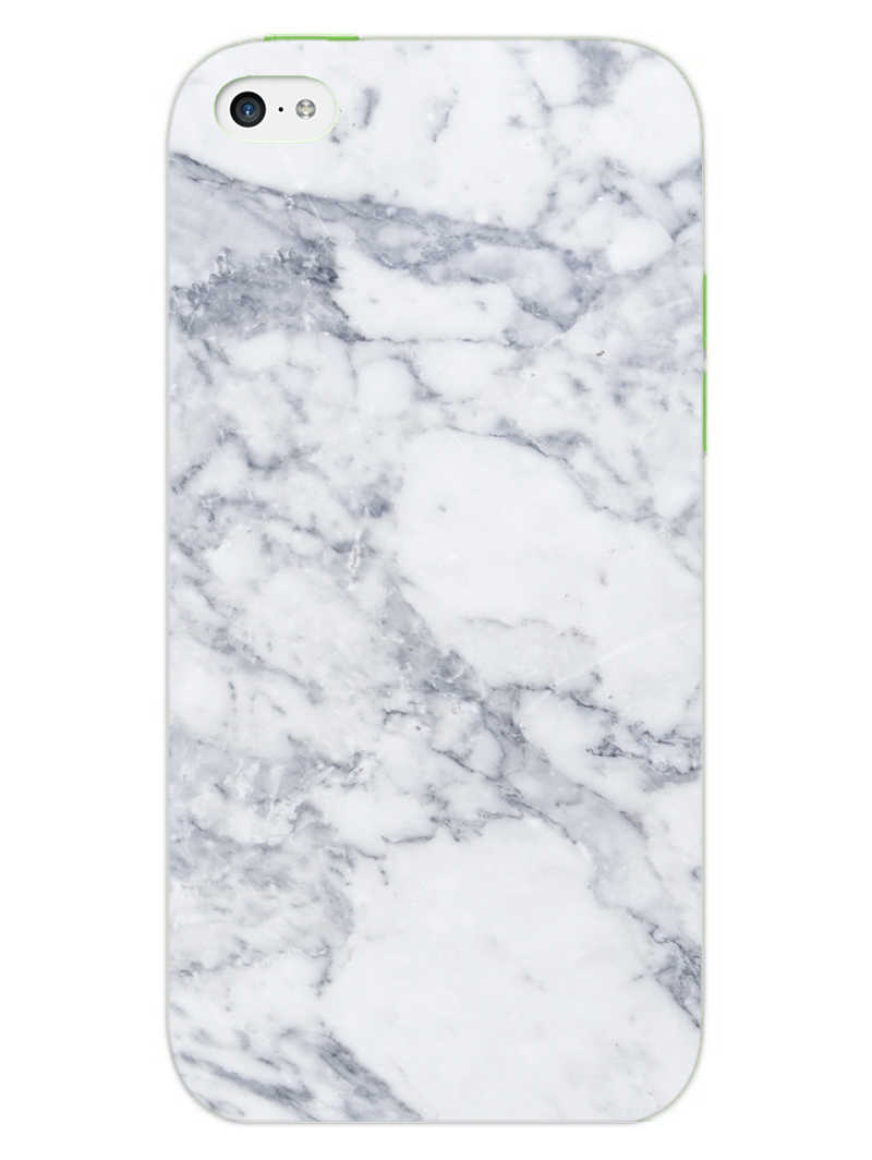 Chic White Marble iPhone 5S Mobile Cover Case - MADANYU