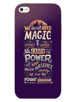 Harry Potter Quote iPhone 5S Mobile Cover Case