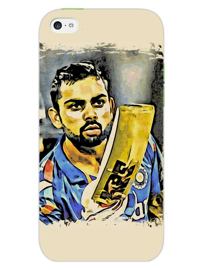 Kohli Bat Kiss iPhone 5S Mobile Cover Case - MADANYU