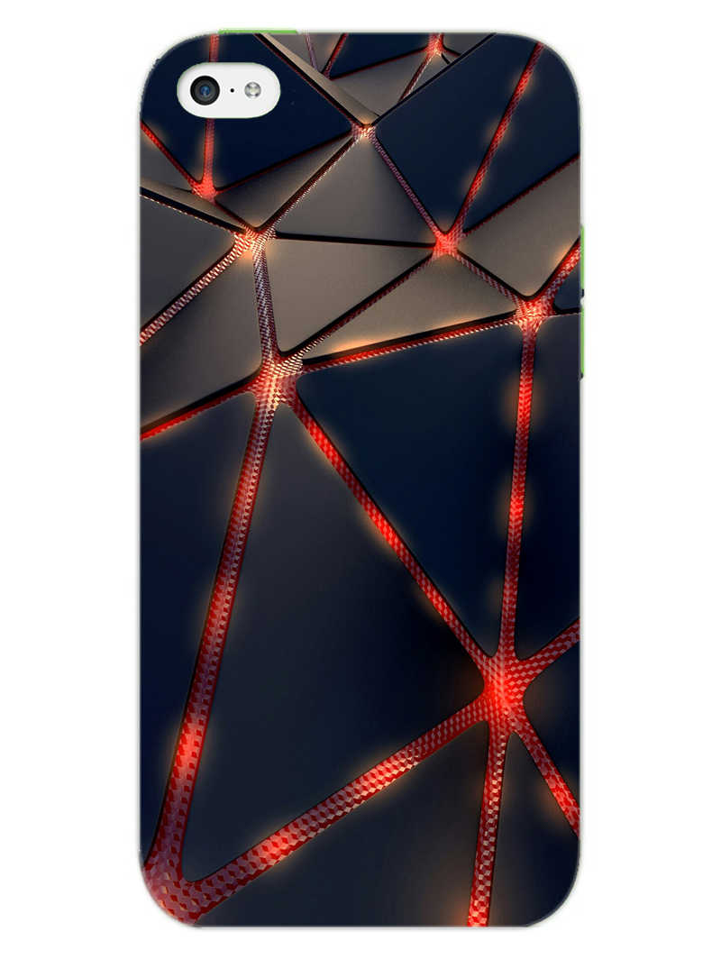 Broken Abstract iPhone 5S Mobile Cover Case - MADANYU