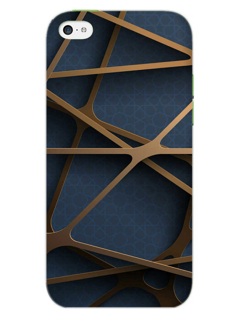 Random Geometry iPhone 5S Mobile Cover Case - MADANYU