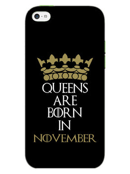 Queens November iPhone 5S Mobile Cover Case