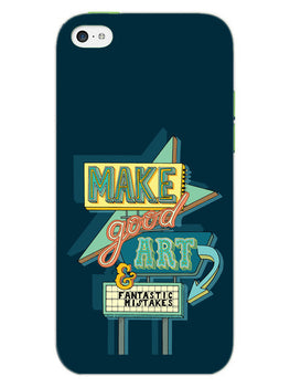 Make Good Art iPhone 5S Mobile Cover Case