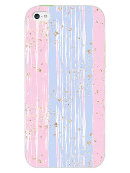 Pink And Blue Shade Lines iPhone 5S Mobile Cover Case