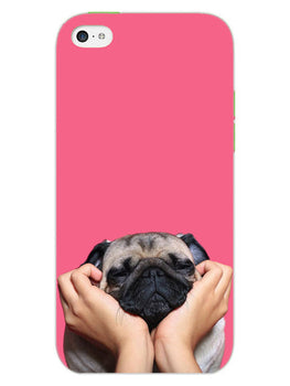 Funny Pug Dog Lovers iPhone 5S Mobile Cover Case