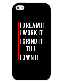 Morning Motivation iPhone 5S Mobile Cover Case