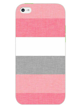 Pink White Stripes iPhone 5S Mobile Cover Case