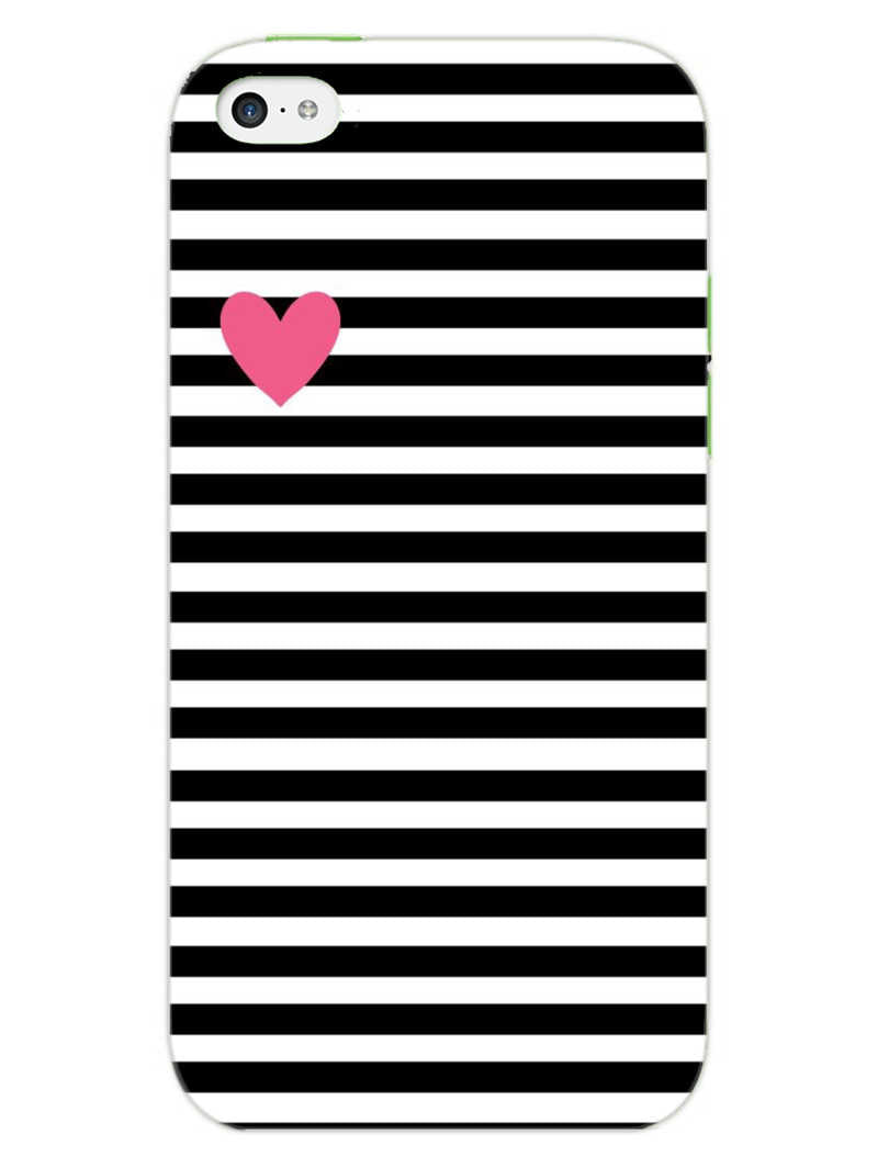 Heart In Stripes iPhone 5S Mobile Cover Case