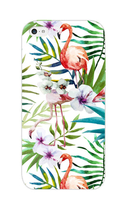 Flamingo With Leaves Nature Art iPhone 5S Mobile Cover Case