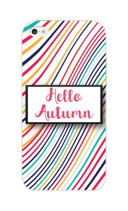Lines Autumn For Artist iPhone 5S Mobile Cover Case
