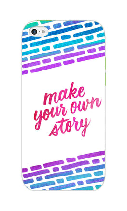 Make Your Own Story Motivational Quote iPhone 5S Mobile Cover Case