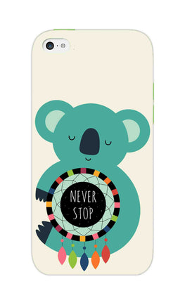 Never Stop Teddy So Girly iPhone 5S Mobile Cover Case