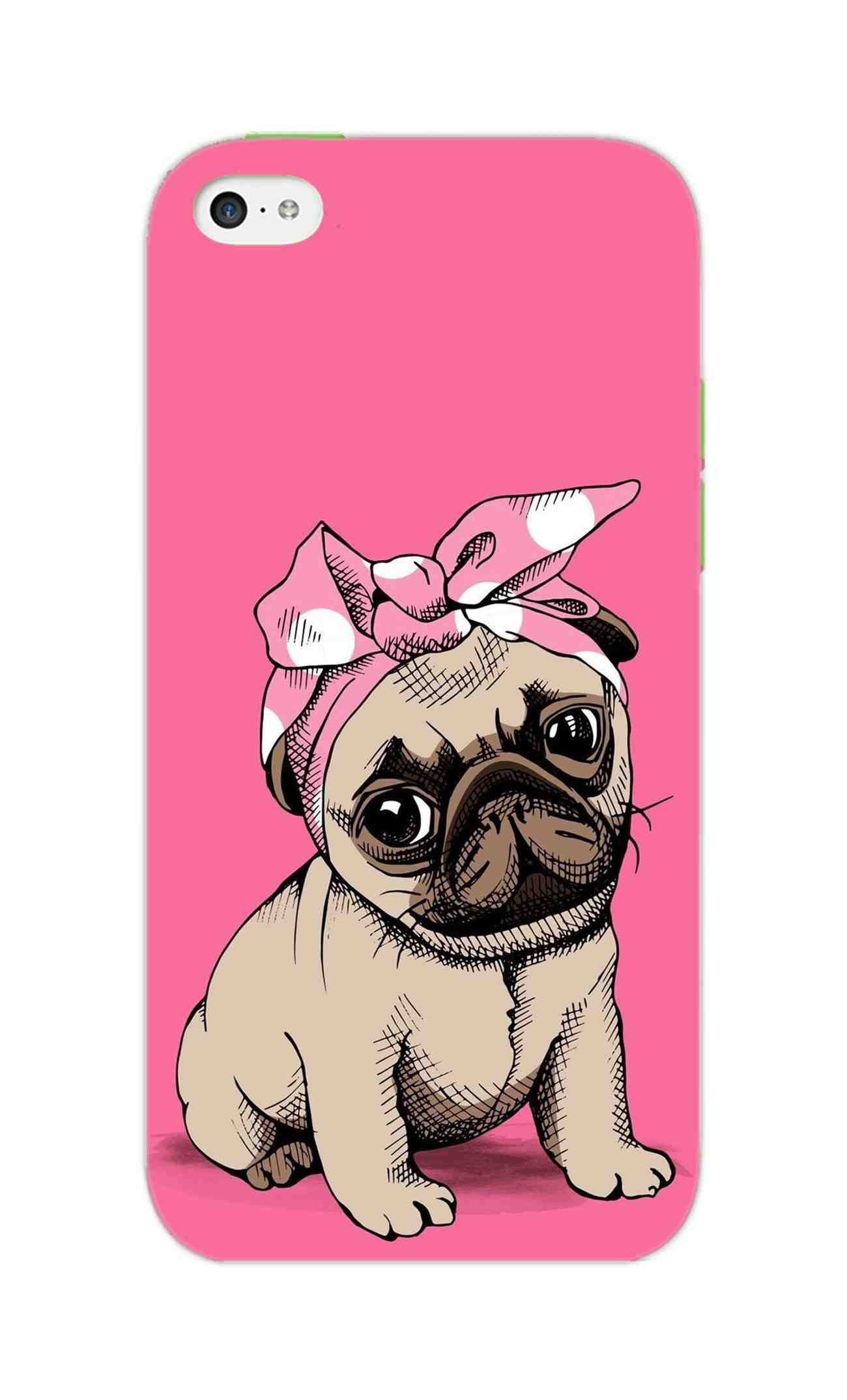 low priced ae6ba ed7f0 Princess Pug Dog Lovers So Girly iPhone 5S Mobile Cover Case