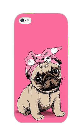 Princess Pug Dog Lovers So Girly iPhone 5S Mobile Cover Case